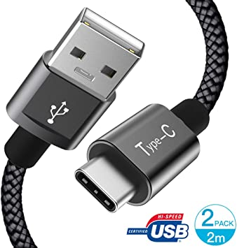 GlobaLink Cable USB Tipo C a USB A 2.0 Cable USB C 2Pack 2m(6.6ft
