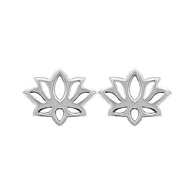 Amazoncom Boma Jewelry Sterling Silver Lotus Blossom Flower Stud