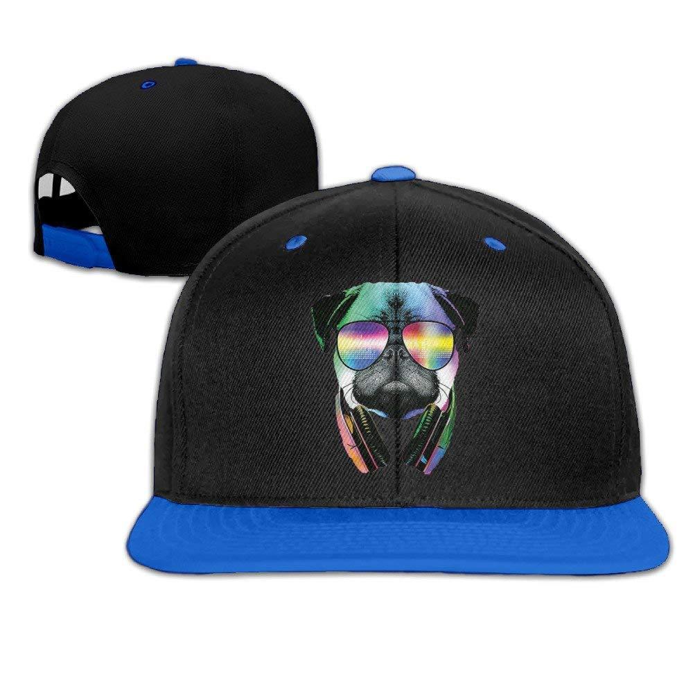 Unisex Cool-DJ-Pug Adjustable Baseball Hats Hip-Hop Caps One Size.