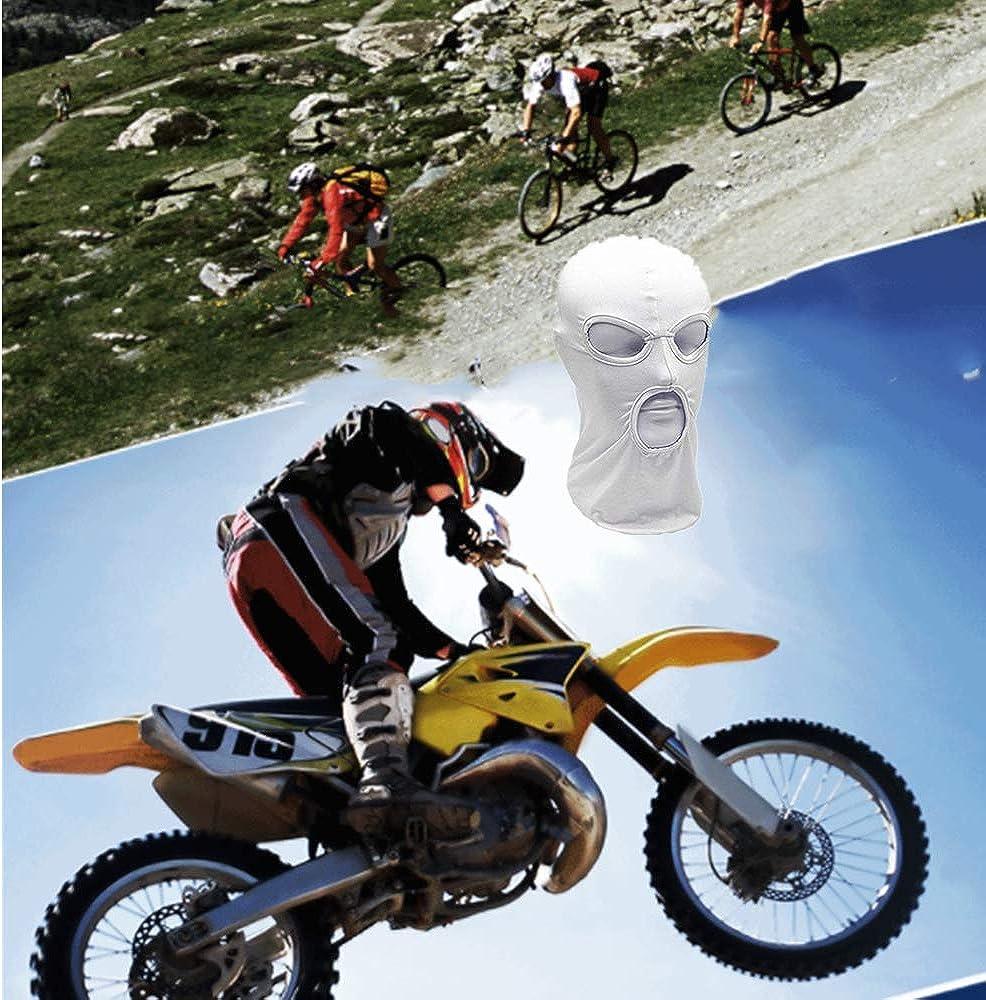 Jagd drei L/öcher WYSUMMER Sturmhaube Vollgesichtsmaske f/ür Motorrad Gesichtsmaske f/ür Damen und Herren d/ünnes Lycra Fahrrad Skifahren Radfahren