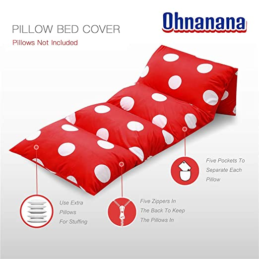 Amazon.com: Ohnanana Kids Floor Pillow Bed Cover, Soft Plush ...