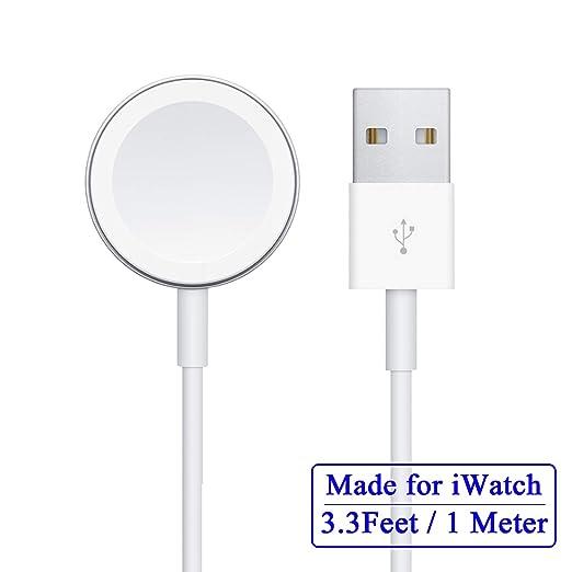 Cable cargador inalámbrico compatible con Apple Watch, cable ...