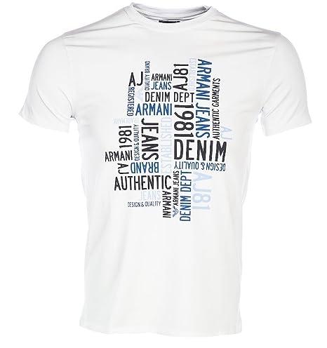 Armani Jeans Man Camiseta Off White M