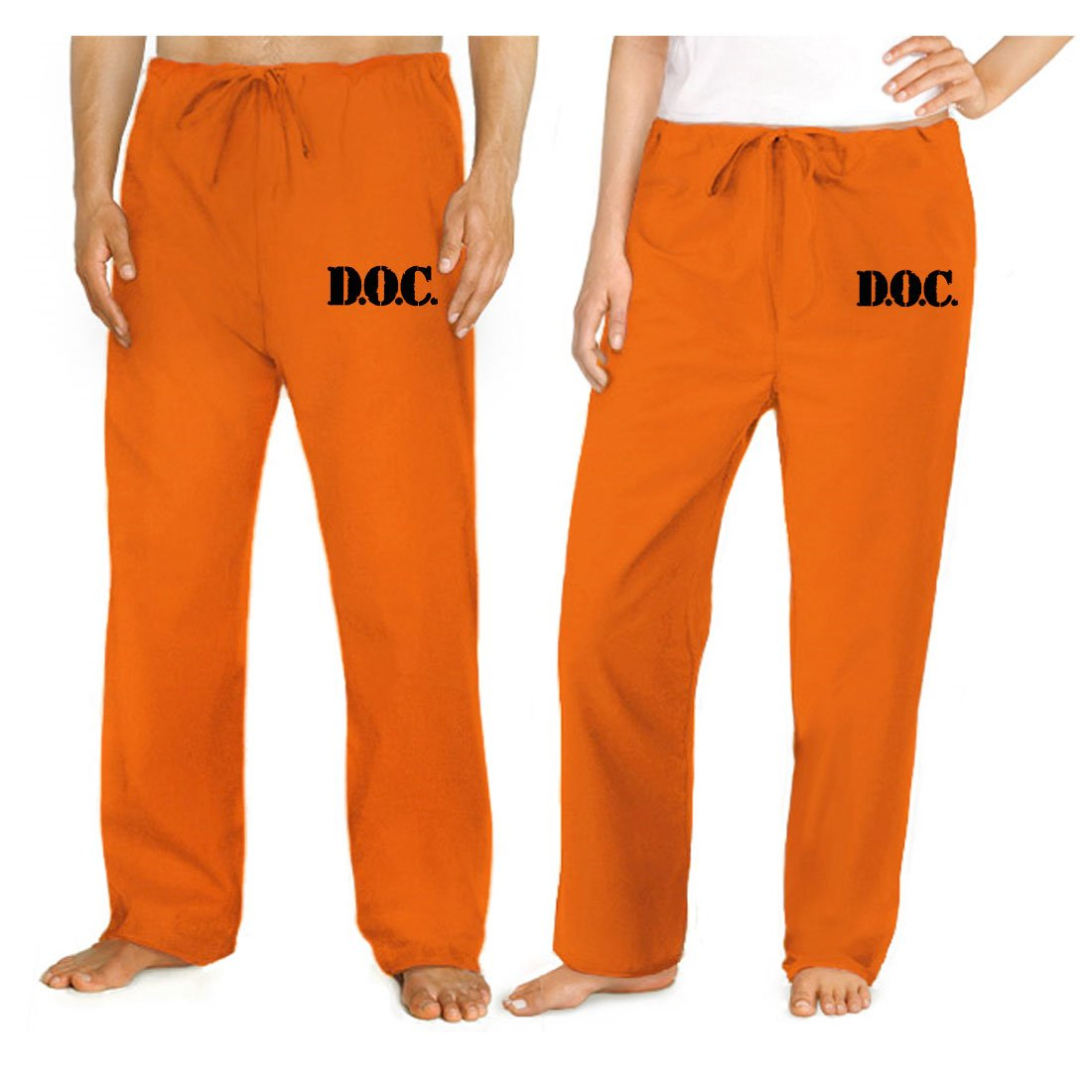 Prison Costume ORANGE DOC Convict Uniform Prisoner Pants