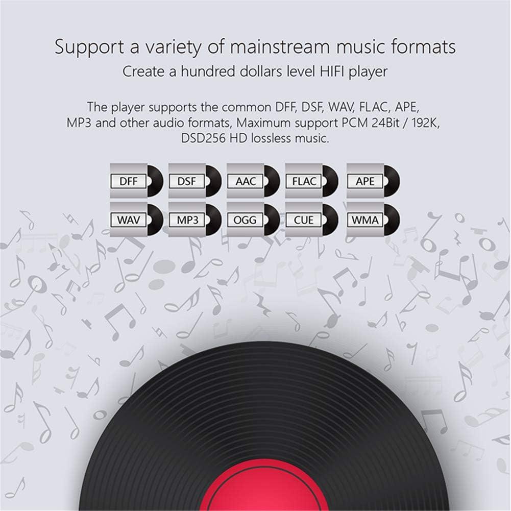 8G Alta fidelidad sin p/érdida HiFi Reproductor de MP3 M/úsica DSD256 Decodificar 2.0 Pulgadas IPS Pantalla CNC HiFi Player 256G Extensi/ón QLPP Mini Reproductor de MP3 Bluetooth