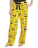 Womwens Emoji Funny Pants Sleep Lounge Flannel