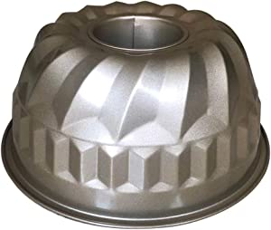 9 inch Bundt Cake Pans, Non-stick Fluted Tube Bakeware , Heavy Duty Stainless Carbon Steel for Oven Baking Pan -Gold