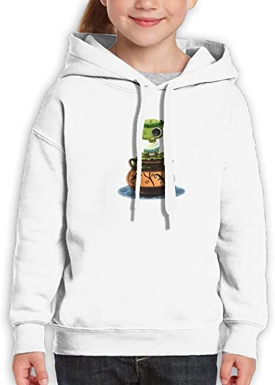 LENSITON Youth Hooded Sweatshirt 100/% Cotton Pullover Hoodie