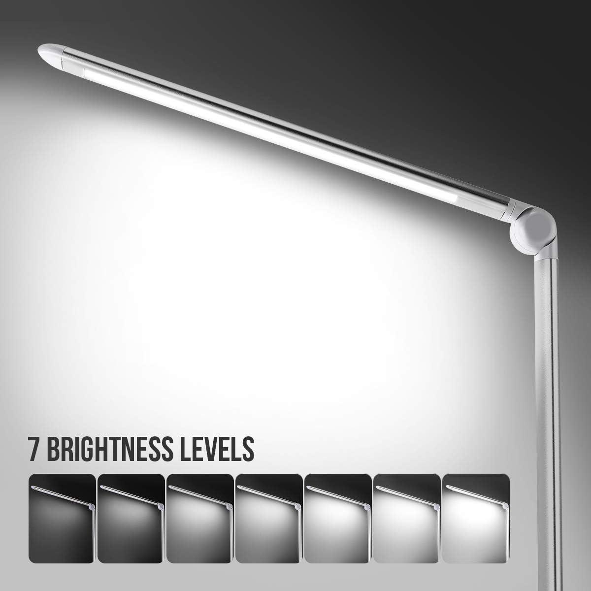 LE Lámpara de Escritorio LED, 8W 7 Niveles de Brillo, Cuidado a la ...