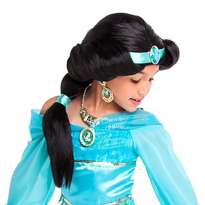 Disney Store Princess Jasmine Costume Wig Girls