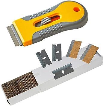 Cuchillo para quitar pegatinas de coche, espátula de afeitado, espátula para ventana y tinte, herramienta de utilidad, para quitar pegamento de ...