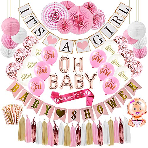Baby Shower Decorations for Girl (or Gender Reveal)