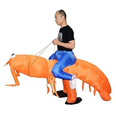LOVIVER Disfraz de camarón de langosta inflable, divertido disfraz ...