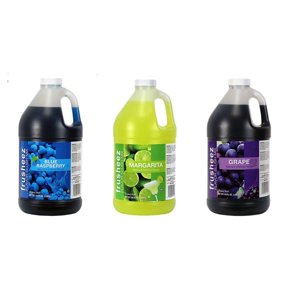 Frusheez Slush & Slushy Mix 1/2 Gallon Choose Your Own Flavors (Three Pack)