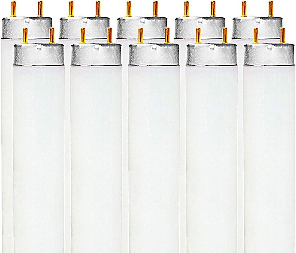 F32T8//841 32-Watt 4 FT T8 Fluorescent Tube Light Bulb G13 Medium Bi-Pin Base Luxrite LR20730 2850 Lumens 6-Pack Cool White 4100K