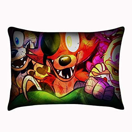 Five Nights at Freddys Custom Pillowcase Rectangle Cover Twin Sides Pillowslip Size 20x30 Inch