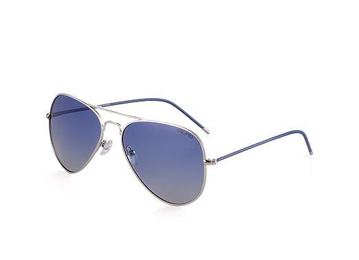 Miuno Sonnenbrille Polarisiert Polarized Herren Damen Geschenkbox & Brillentuch Aviator Federscharnier 3025 Schwarz (Blau) nWp5uf