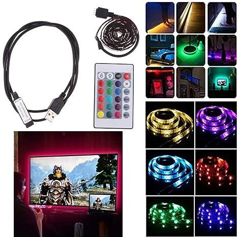 Amazon com: nouler Juler 2M Led Strip USB Powered RGB Multi-Color