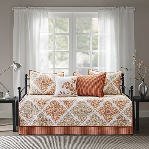 Arista Spice 6 Pieces Printed Quilted Daybed Set