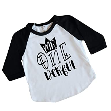 Boy First Birthday Shirt 1st Outfit Mr One Derful