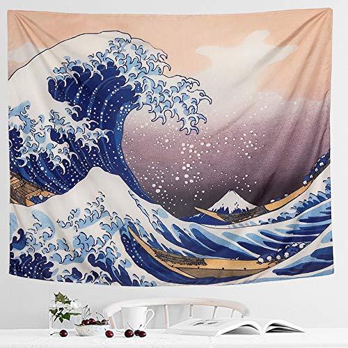 IcosaMro Wave Tapestry Wall Hanging