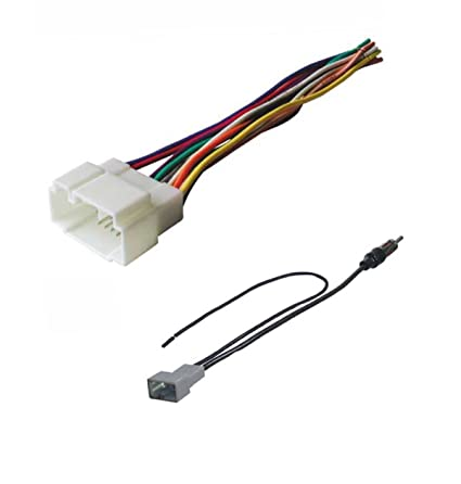 amazon com asc audio car stereo radio wire harness and antenna rh amazon com