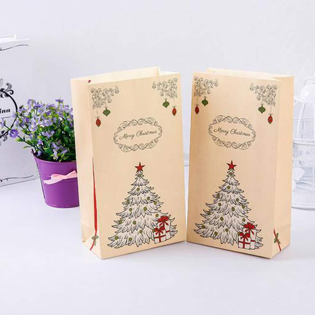 biscotti e regali a tema natalizio Confezione da 30 sacchetti di carta per caramelle Roydoa