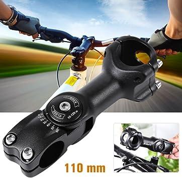 Uthome Elevador de Manillar Ajustable, para Manillar de Bicicleta, Adaptador de Abrazadera de Elevación para Manillar de Bicicleta, Adaptador Flexible de Aleación de Aluminio, 31.8 X 110MM: Amazon.es: Deportes y aire libre