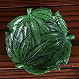 BERTERI Heavy Crafts Fashion Ashtray Hippie Rock Tree Green Design Cool Home Decoration