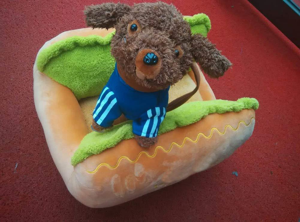 Westeng Cama para Mascotas Hot Dog Cama de Perro De Sofa Perro Gato Suave y Acogedor Perro Mascota Nido Cálido Nido Mascota Algodón (Verde-L): Amazon.es: ...