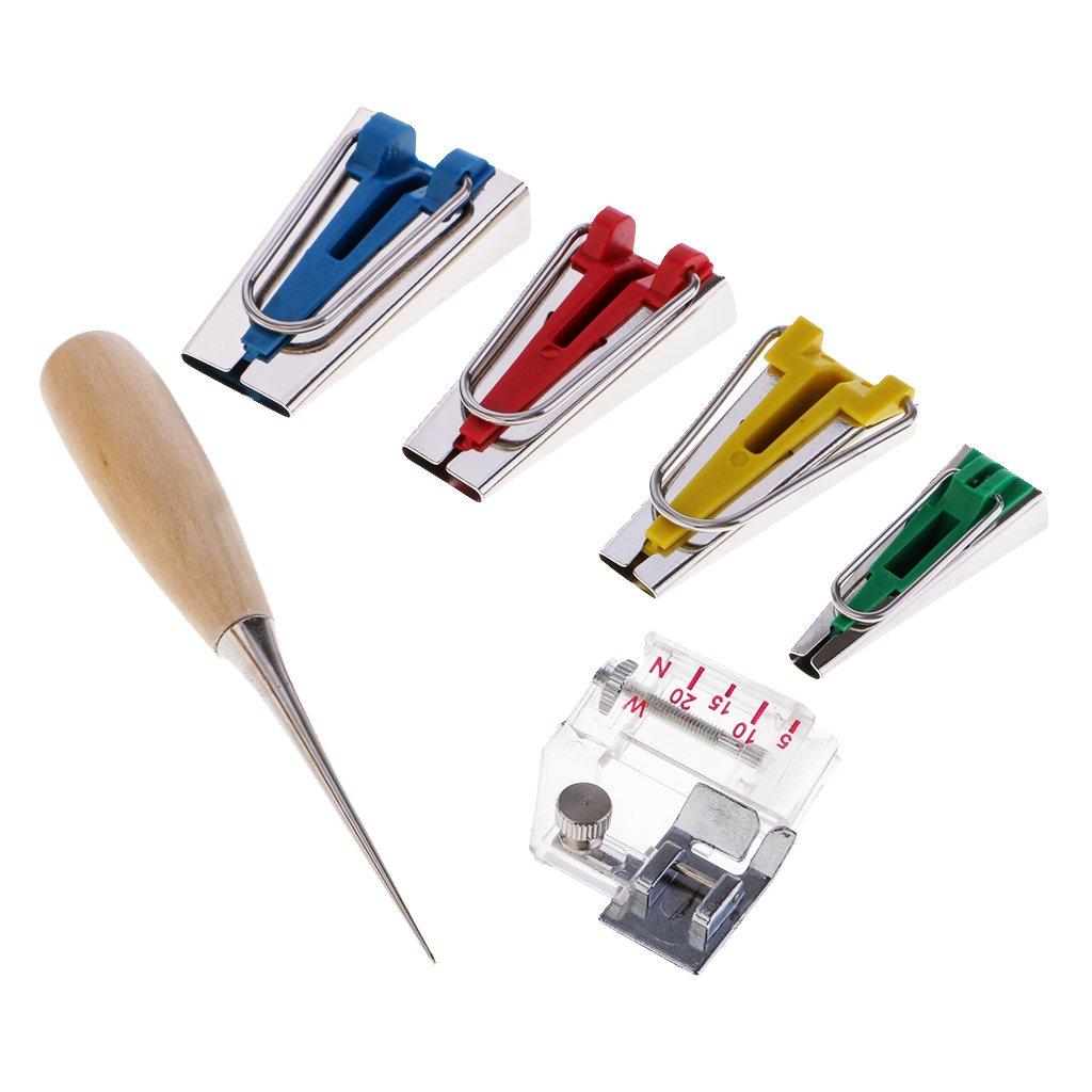 non-brand Sharplace 6PCS Schr/ägbandformer Set Binding Fu/ß Ahle Pin Set Quilt N/ähen