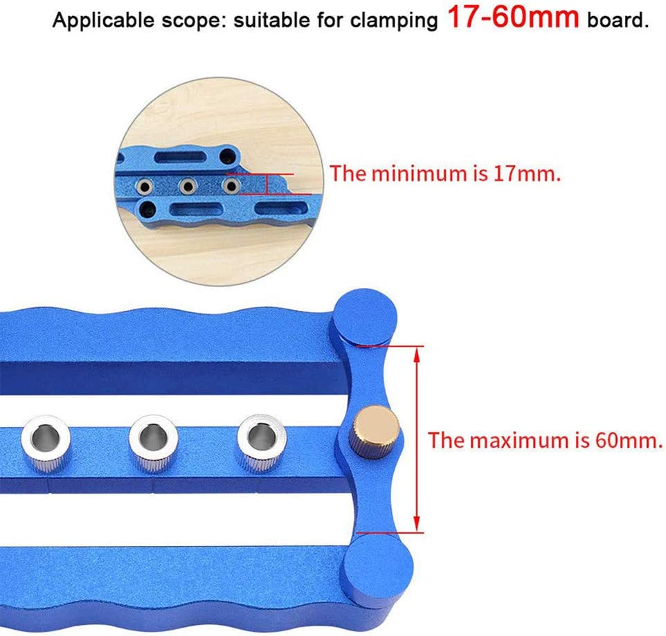 13 Pack 6//8//10mm Wood Doweling Jig Hole Drilling Guide Woodworking Positioner Locator Tool Drilling Jig Wood Dowel Puncher Locator Carpentry Tools Blue CDIYTOOL Self Centering Dowelling Jig Set