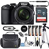 Nikon COOLPIX B500 Digital Camera 40x Optical Zoom, Built-In Wi-Fi, NFC, and Bluetooth + 32GB Sandisk High Speed Memory Card + Camera Carrying Bag + Tripod (Certified Refurbished)