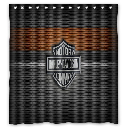 Awesome Amazon.com: Custom Harley Davidson Logo Pattern Waterproof Bathroom Shower  Curtain 100% Polyester Fabric Shower Curtain Standard Size 66 X 72: Home U0026  ...