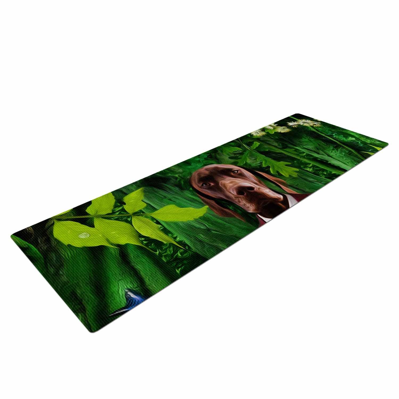 Kess eigene Nattin die Blätter N2-Grün Hund Yoga Matte, 182,9 x 61 cm