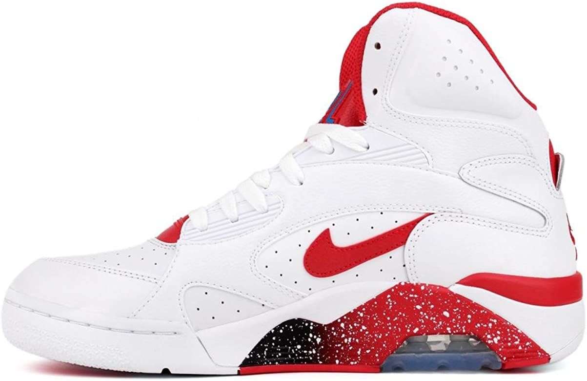 Nike Air Max 180 Mid Basketball Schuhe Sneaker Shoes (43, Weiss Rot)
