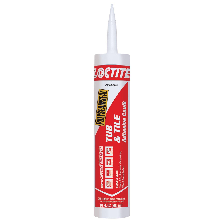 Henkel-Loctite 2154739 12 Pack 10 oz. Polyseamseal Tub and Tile Adhesive Caulk, White