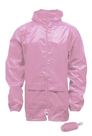 Amazon.com  Kids Girls Boys Unisex Kagool Rain Jacket Kag in Bag  Clothing 15a63d1b6