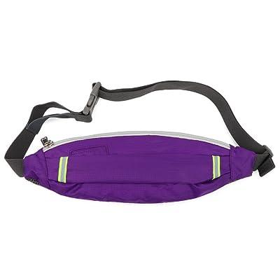 Running Sport Lumière Mâle Imperméable à L'eau Réfléchissant Trou Pour écouteurs Multifonction Taille Des Paquets Sac,Purple