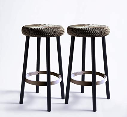 Excellent Keter Cozy Knit Outdoor Counter Height Bar Stools Set Of 2 Brown Caraccident5 Cool Chair Designs And Ideas Caraccident5Info