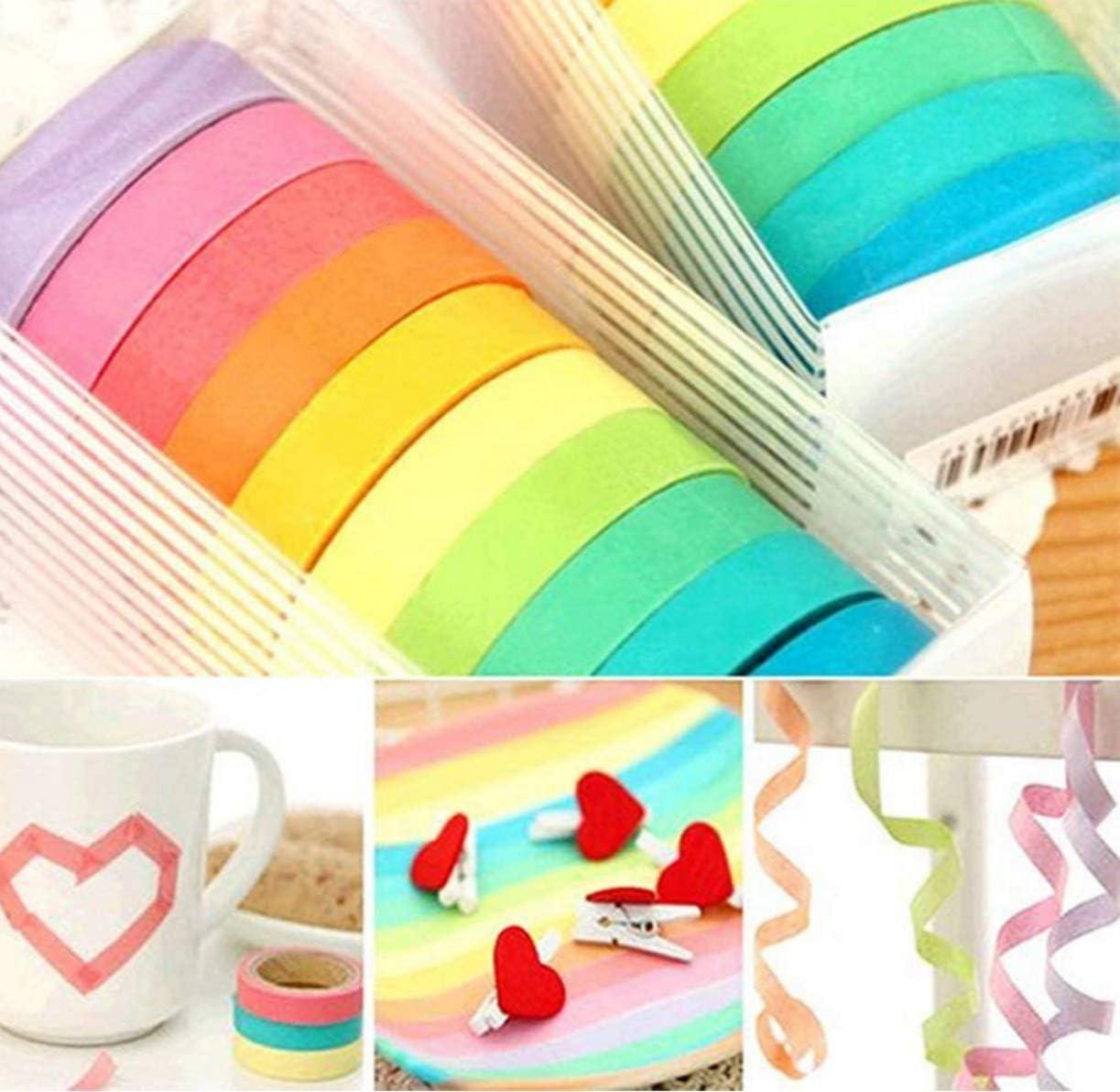 Westeng 5 x decorativo de papel japon/és Tape arco iris Rollos de papel para Manualidades DIY