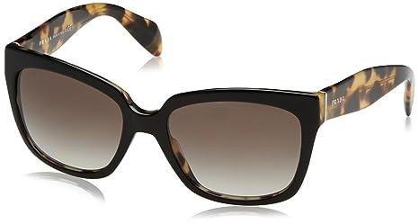 9bb18df0112af Prada Contemporary Square Sunglasses in Black PR 07PS 1AB0A7 56 ...