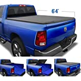 """Tyger Auto TG-BC3D1011 T3 Soft Tri-Fold Black 6'4"""" Bed Compatible with 2002-2018 Ram 1500; 2019-2020 Classic; 2003-2020 2500"""