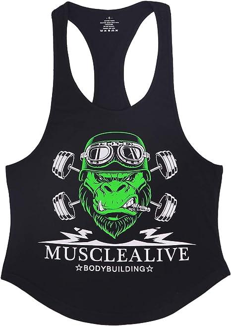 Canotta bodybuilding palestra muscle alive uomo fitness sotto maglie sportive allenarsi stringer vest B08RYBTZD3