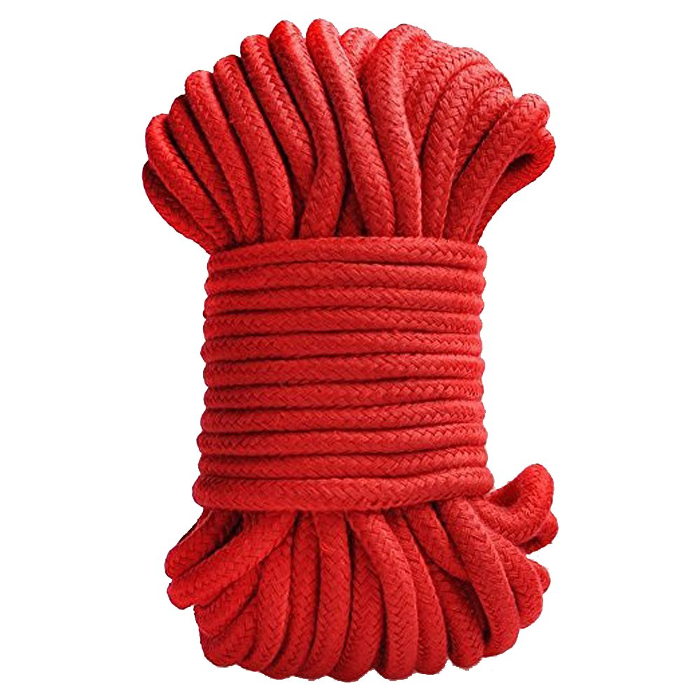 32 Feet Rope, 10M Long Bondage Soft Silk Rope,7mm Thickness(Black)