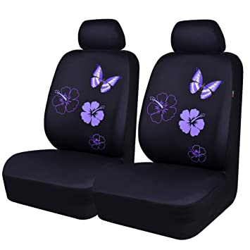 NEW ARRIVAL CAR PASS Flower And Butterfly Universal Car Seat CoversPerfect Fit Suvs