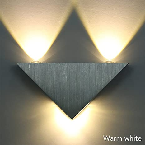 Sunix® Wall lightWarm White LED Triangle Sconce KTV Hall Hallway L& LED & Sunix® Wall light Warm White LED Triangle Sconce KTV Hall Hallway ...