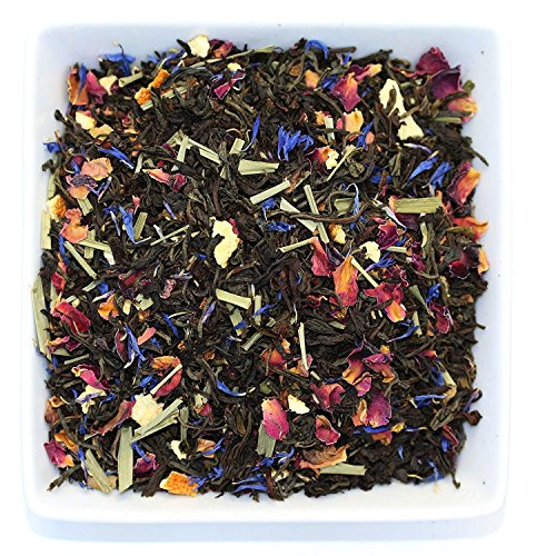 Tealyra - Lady Grey - Delightful Black Loose Leaf Tea - Rose Petals and Lemongrass with Orange - Medium Caffeine - Blend - All Natural - 220g (8-ounce) (220 Petals)