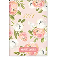 """Monthly Pocket Planner 2020-2021 in Bella Flora by Orange Circle Studio - 5"""" x 7"""" 17-Month Bound Cover with Month-Per…"""