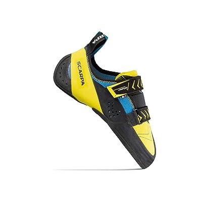 SCARPA Vapor V Climbing Shoe - Men's Ocean/Yellow 40.5   Climbing